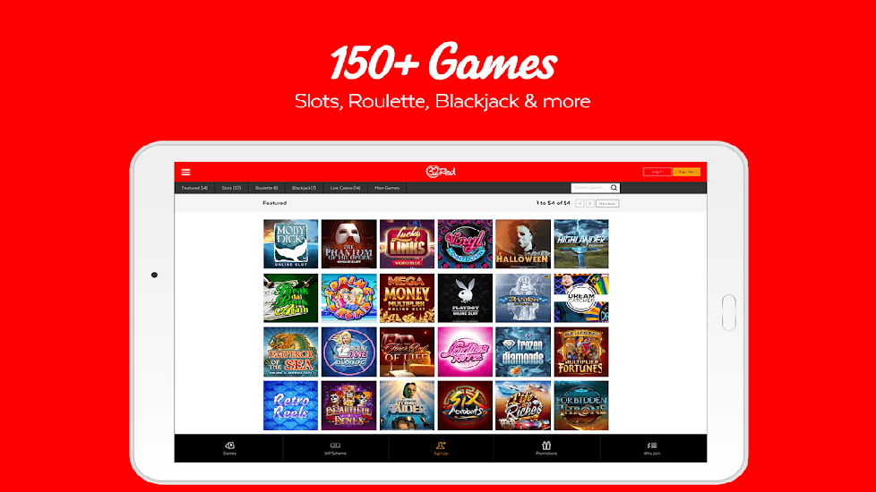 32 Red Casino Mobile App Review | JackMobileCasinos