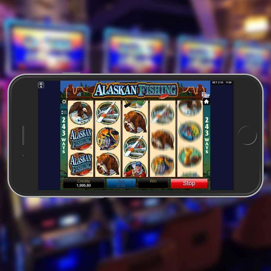 Alaskan Fishing Slot Game Spinning Phase