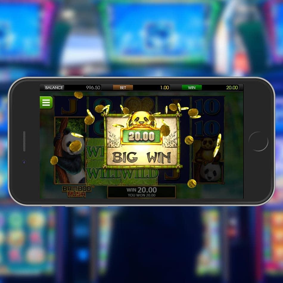 Bamboo Rush Slot Machine Big Win