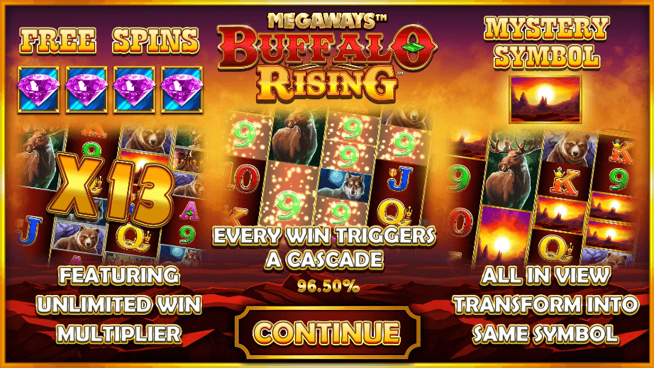 buffalo-rising-megaways-slot-machine-features