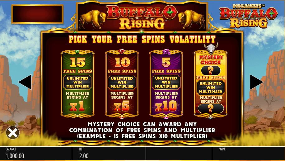 buffalo-rising-megaways-slot-machine-free-spins-loyalty