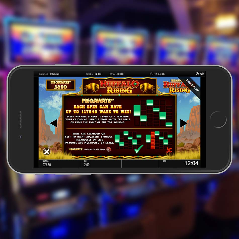 Buffalo Rising MegaWays Slot Machine Paylines