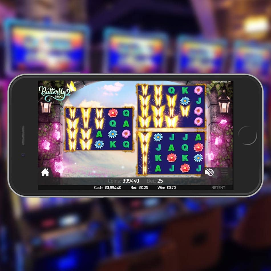Butterfly Staxx 2™ Slot Machine Multiple Play Areas