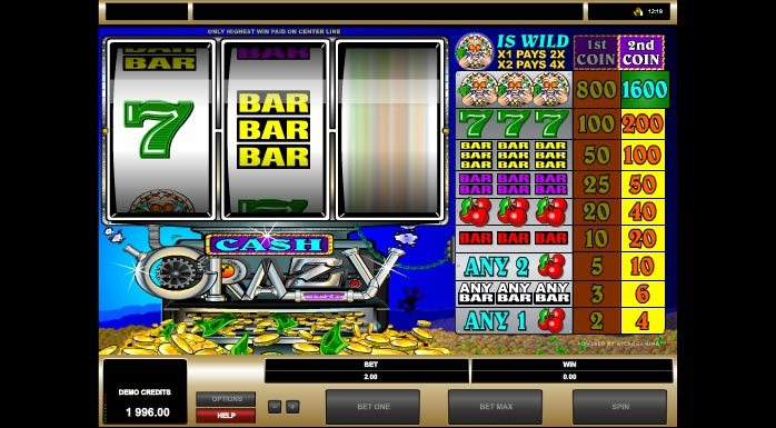 Cash Crazy Play Slot Machine Online Free Slots By Microgaming