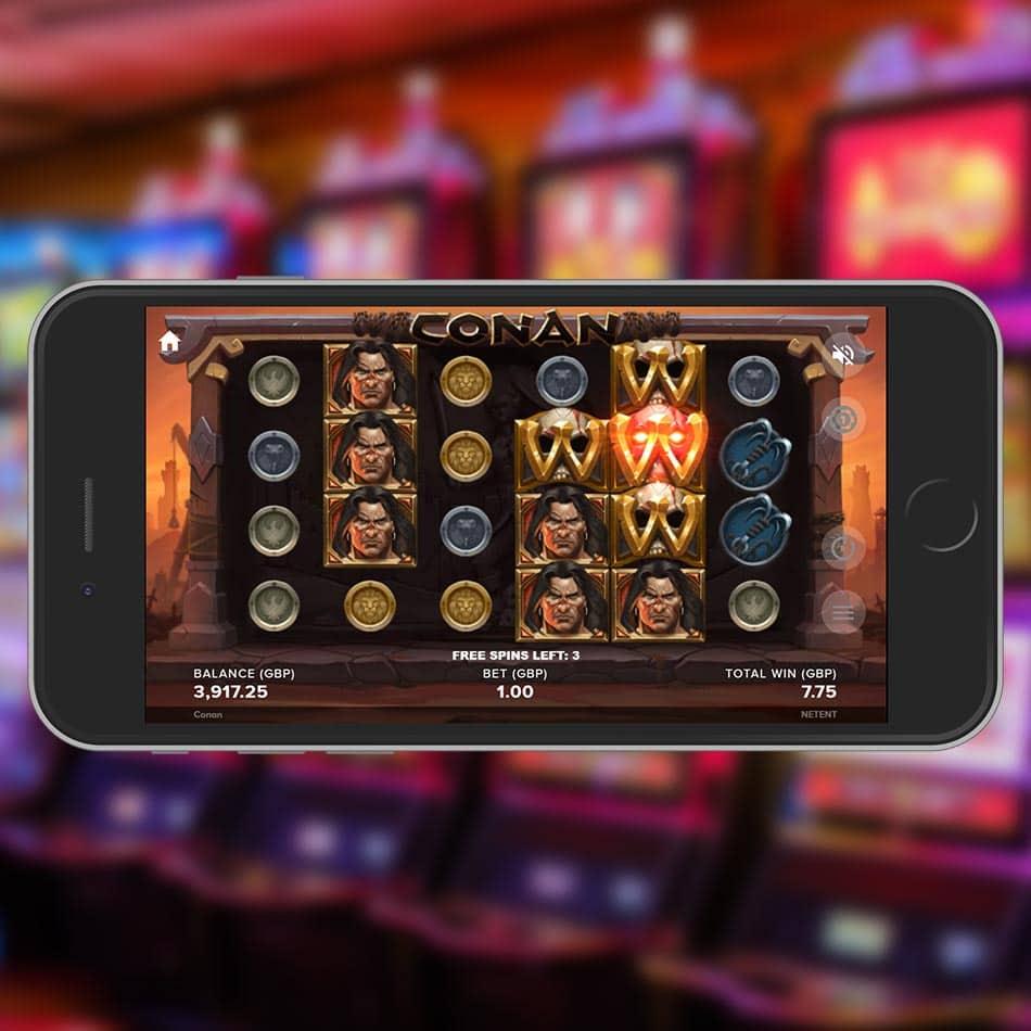 Conan Slot Machine Expanding Wilds