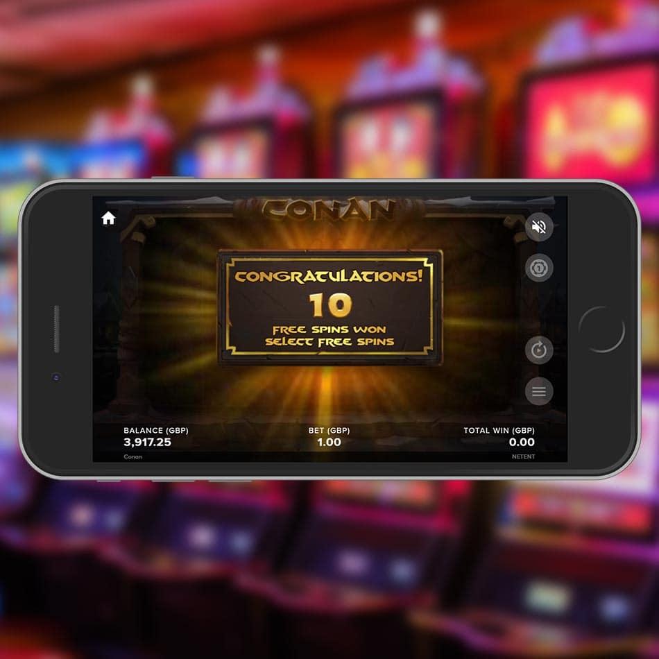 Conan Slot Machine Free Spins Feature