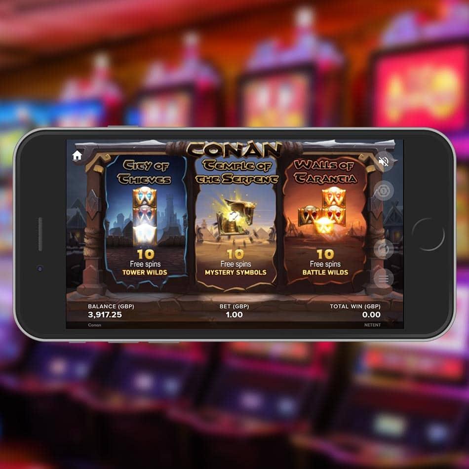 Conan Slot Machine Free Spins Round Choosing Stage