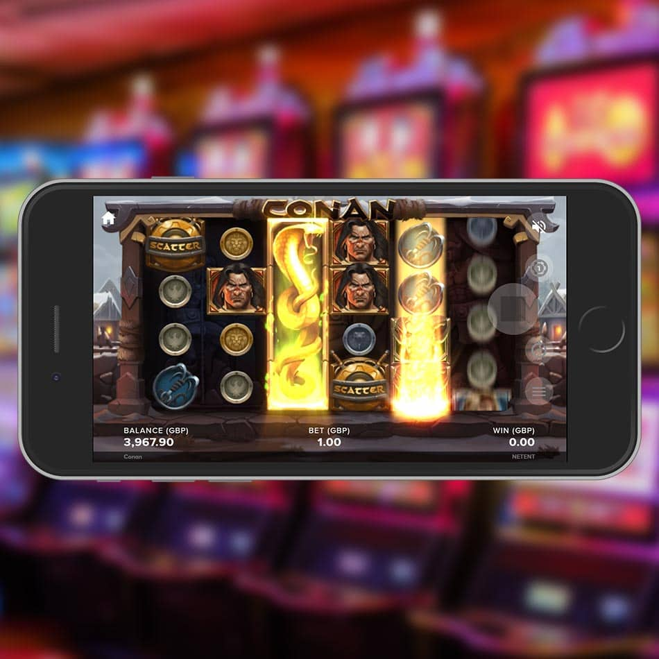 Conan Slot Machine Multiplier Expanding Symbol