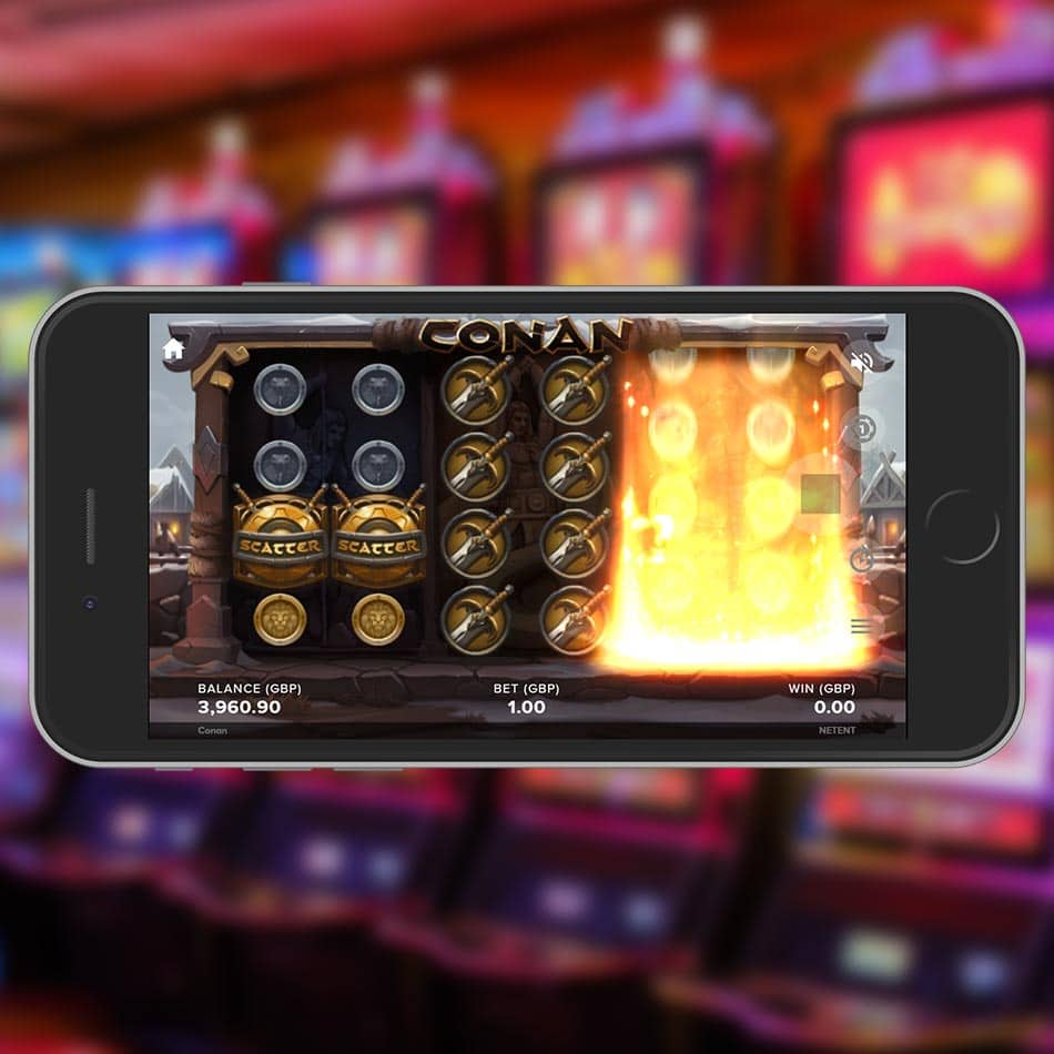 Conan Slot Machine Searching for Scatter Symbol