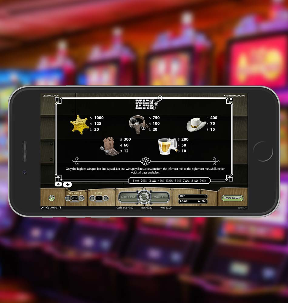 Dead or Alive Slot Demo Paytable
