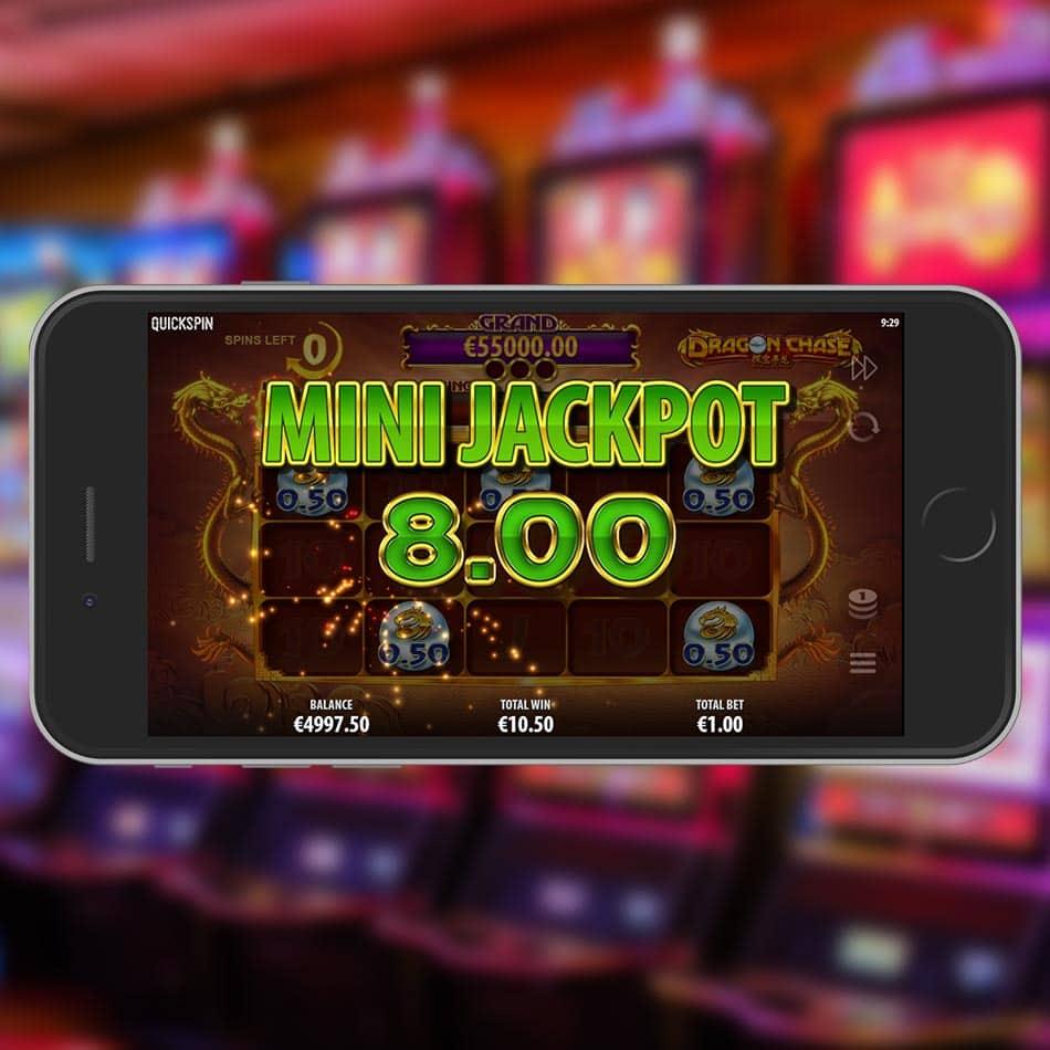 Dragon Chase Slot Machine Mini Jackpot Win