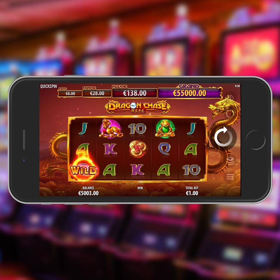 Dragon Chase Slot Machine Wild Generating Feature