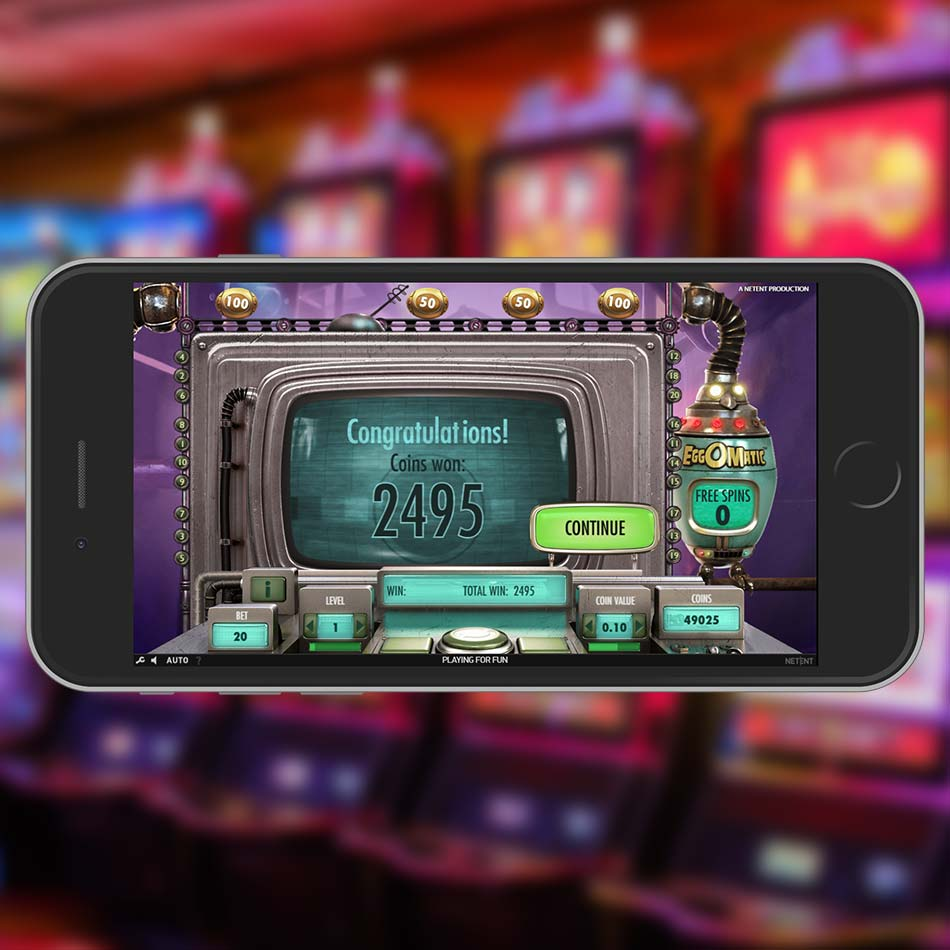Eggomatic Slot Machine Free Spins Win