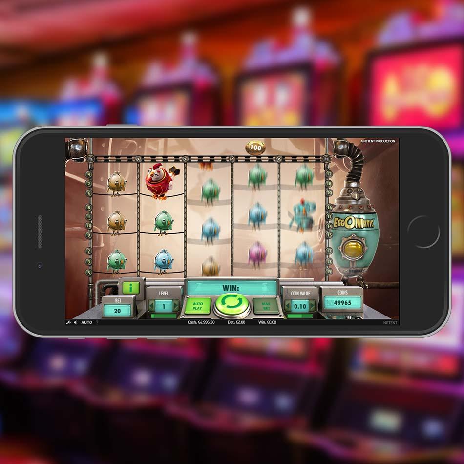 Eggomatic Slot Machine Spinning Phase