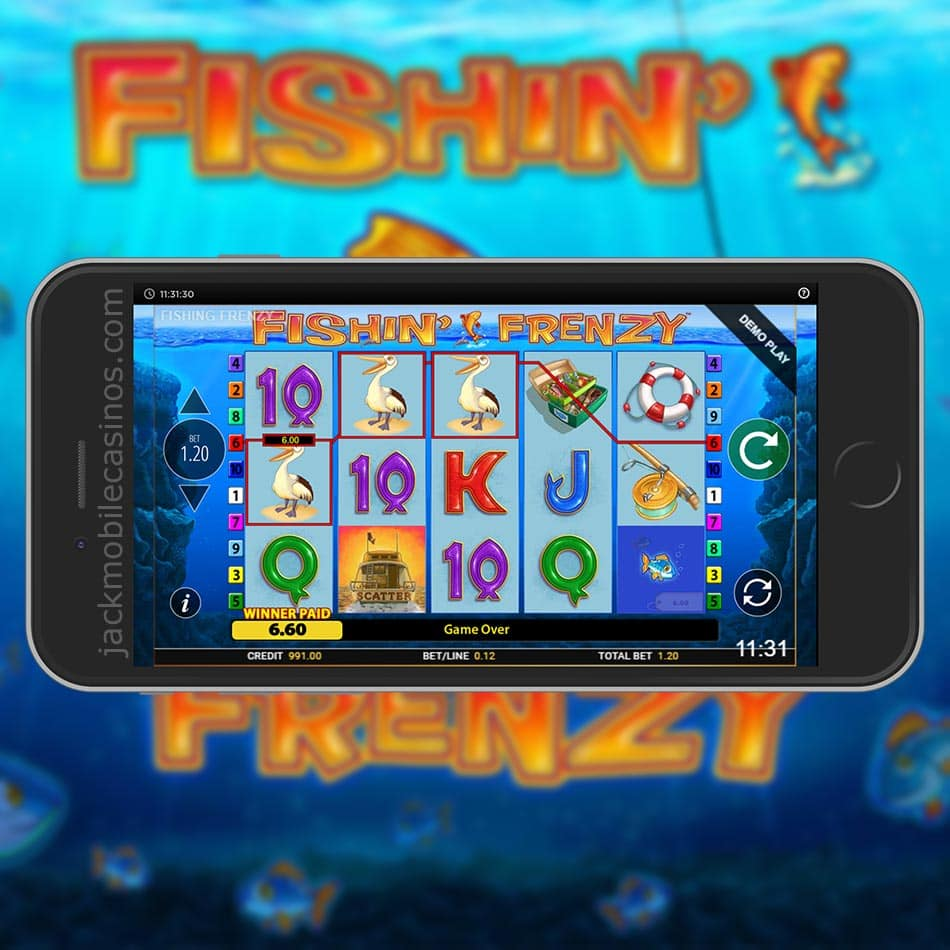 Fishin Frenzy Slot Free Play Gamble Feature Review 2020