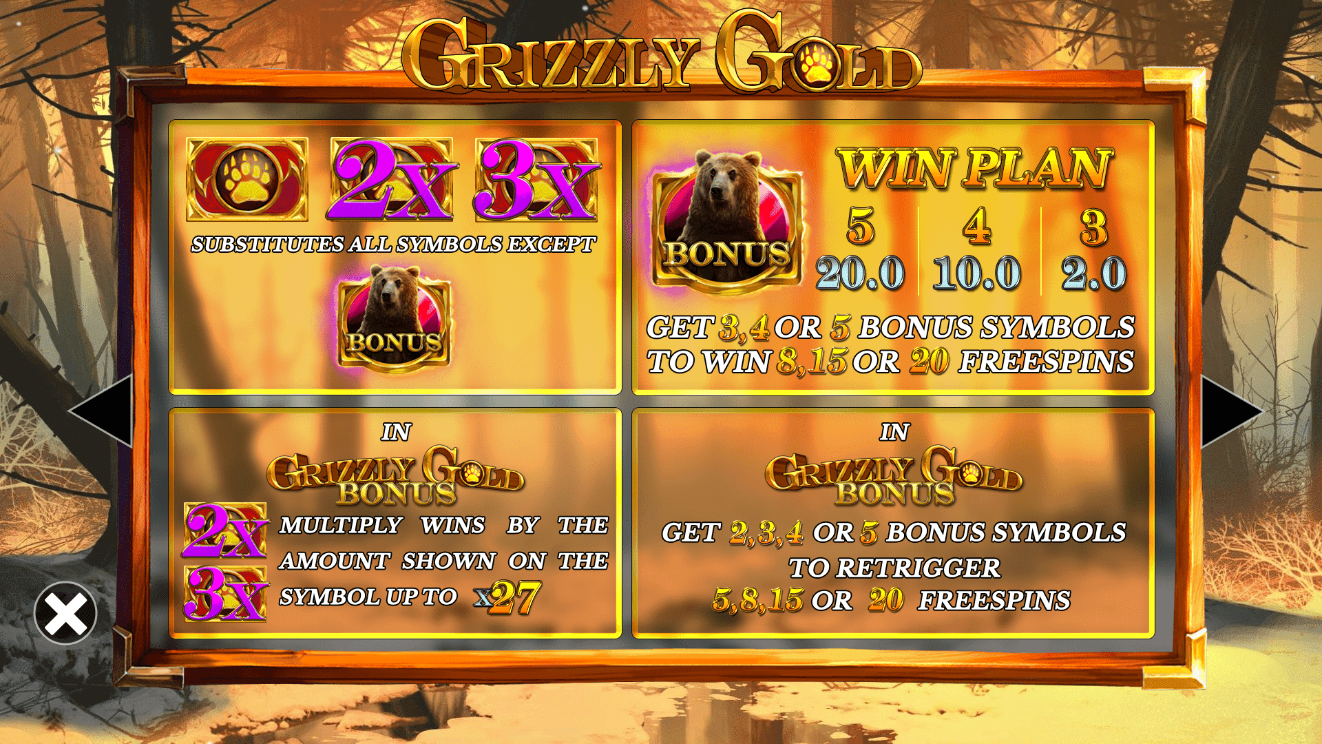 Grizzly Gold free spins