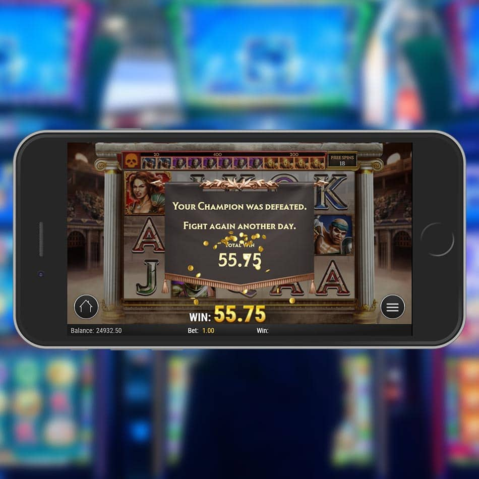 Game of Gladiators Slot Machine Free Spins Total Win