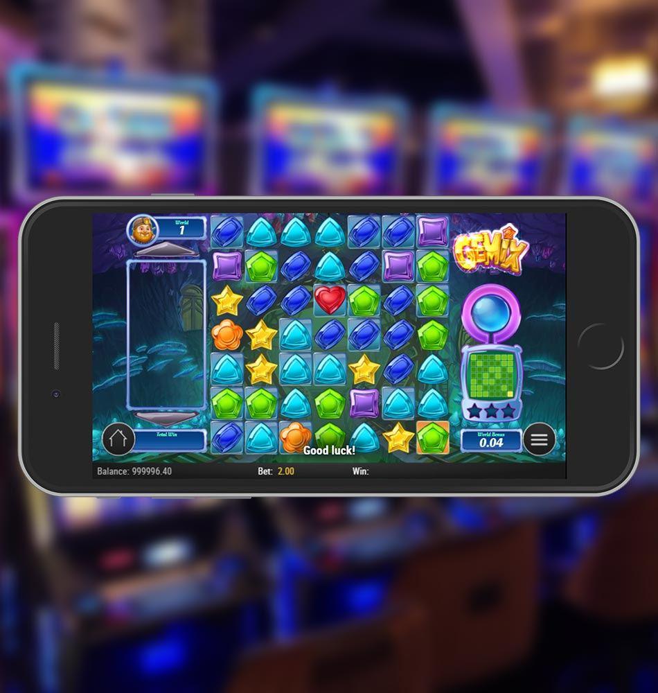 Gemix Mobile Slot Game Home Page