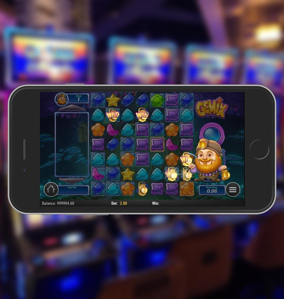 Gemix Mobile Slot Game Wild Feature