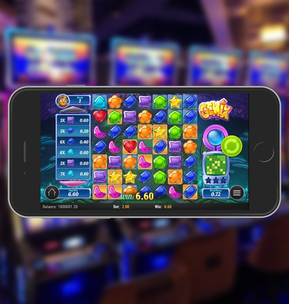 Gemix Mobile Slot Game Win After Wild Feature