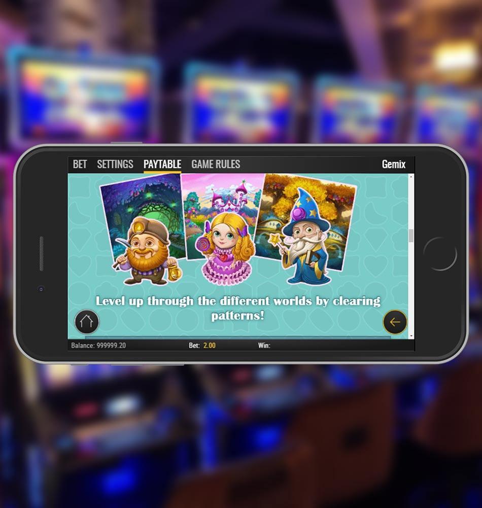 Gemix Mobile Slot Game Worlds