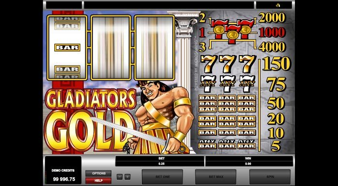 a game where you can bet on gladiators