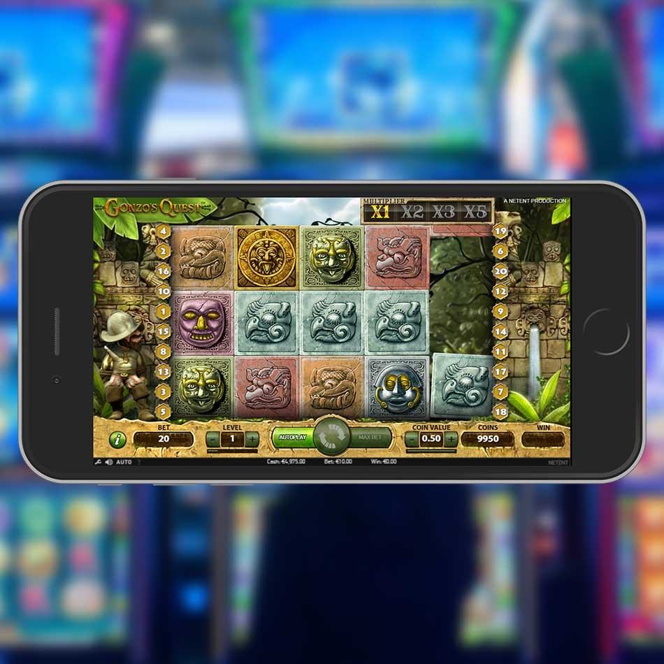 Gonzo's Quest Slot Machine Spinning Phase