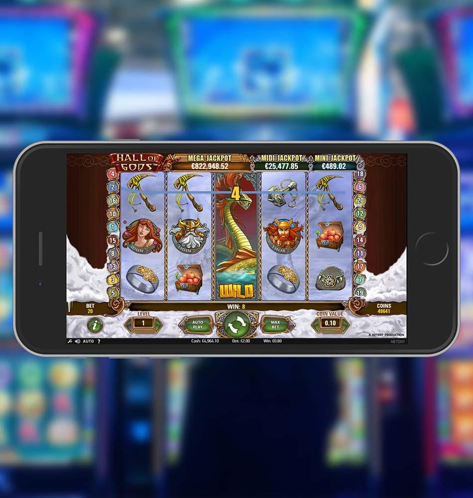 Hall Of Gods Slot Machine Wild Win
