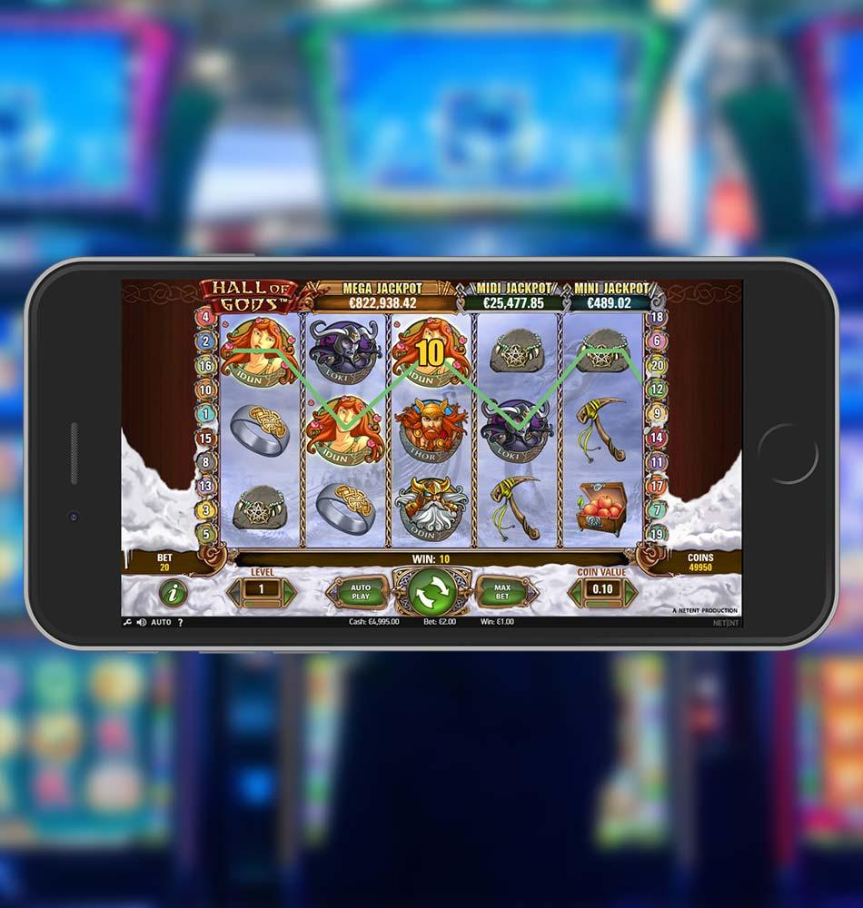 Hall Of Gods Slot Machine Win