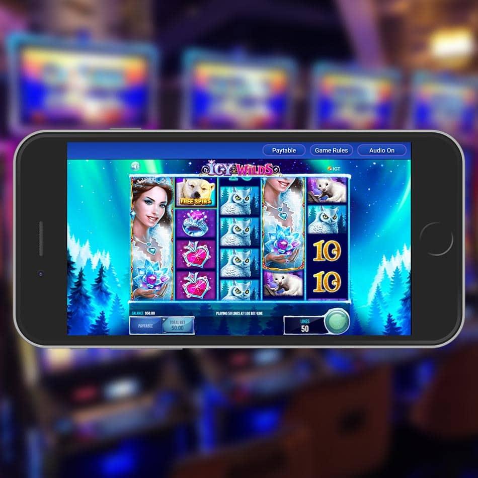 Icy Wilds Slot Machine Spinning Phase