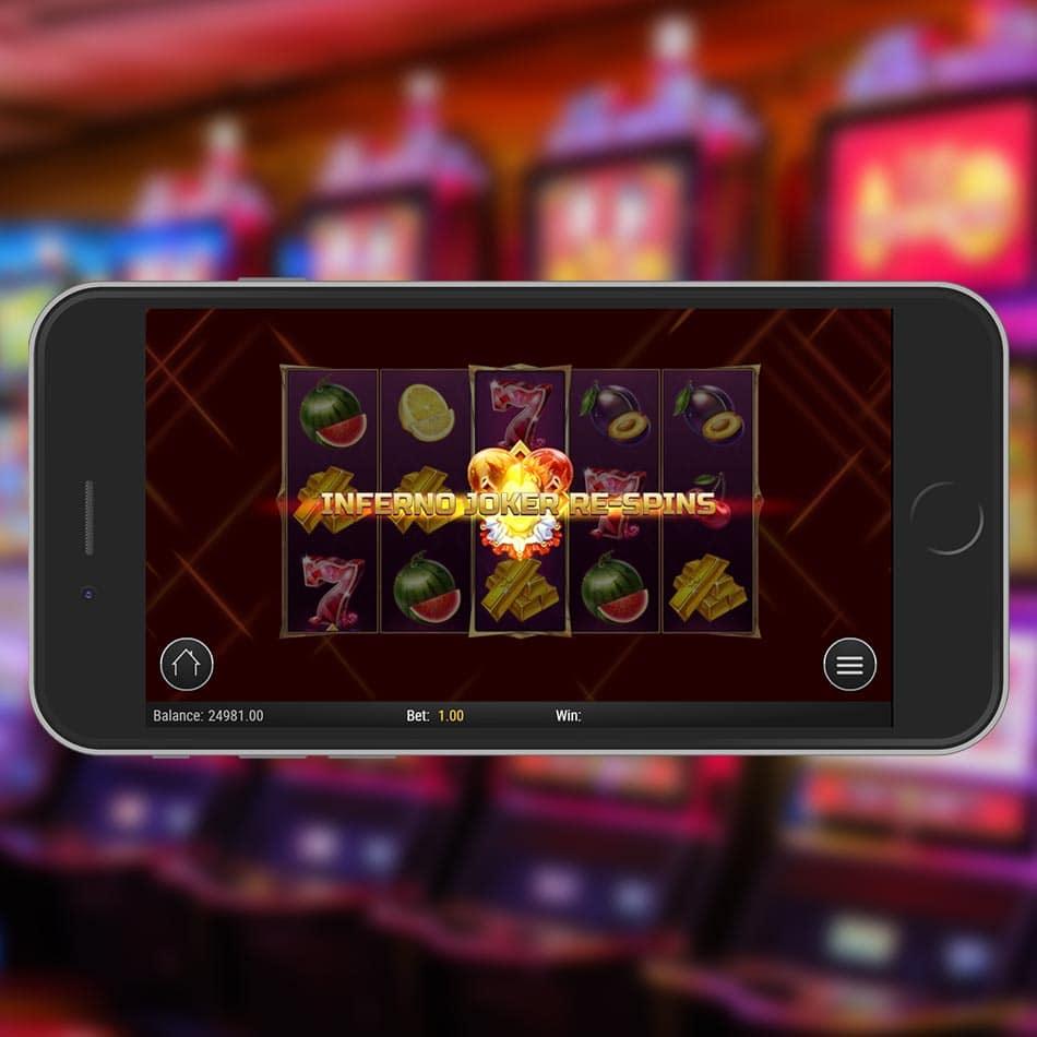 Inferno Joker Slot Machine Respin Feature