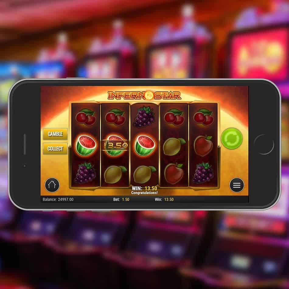 Inferno Star Slot Machine Gamble Feature