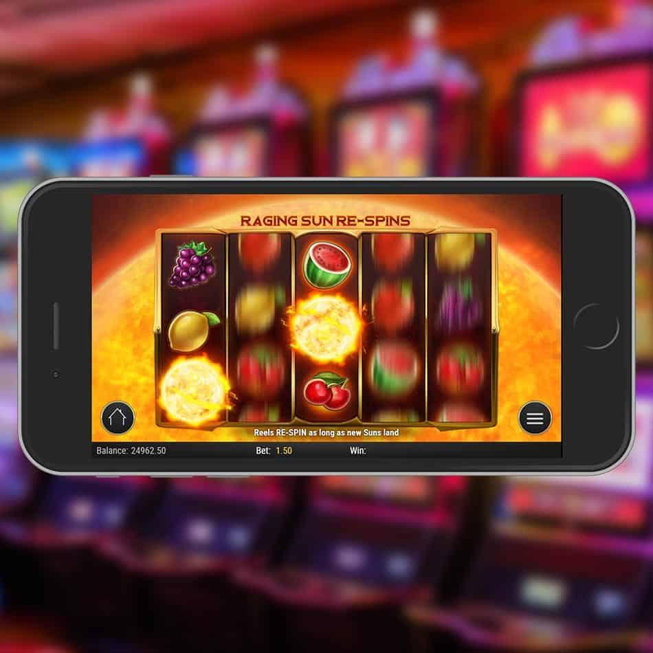 Inferno Star Slot Machine Raging Sun ReSpin Feature