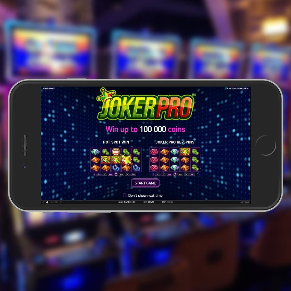Joker Pro Slot Game Welcome Page