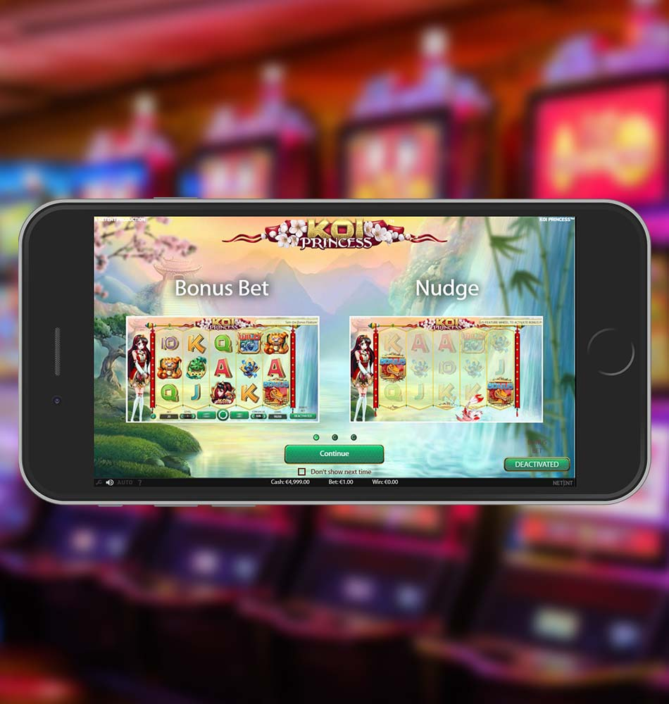 Koi Princess Slot Machine Welcome Page