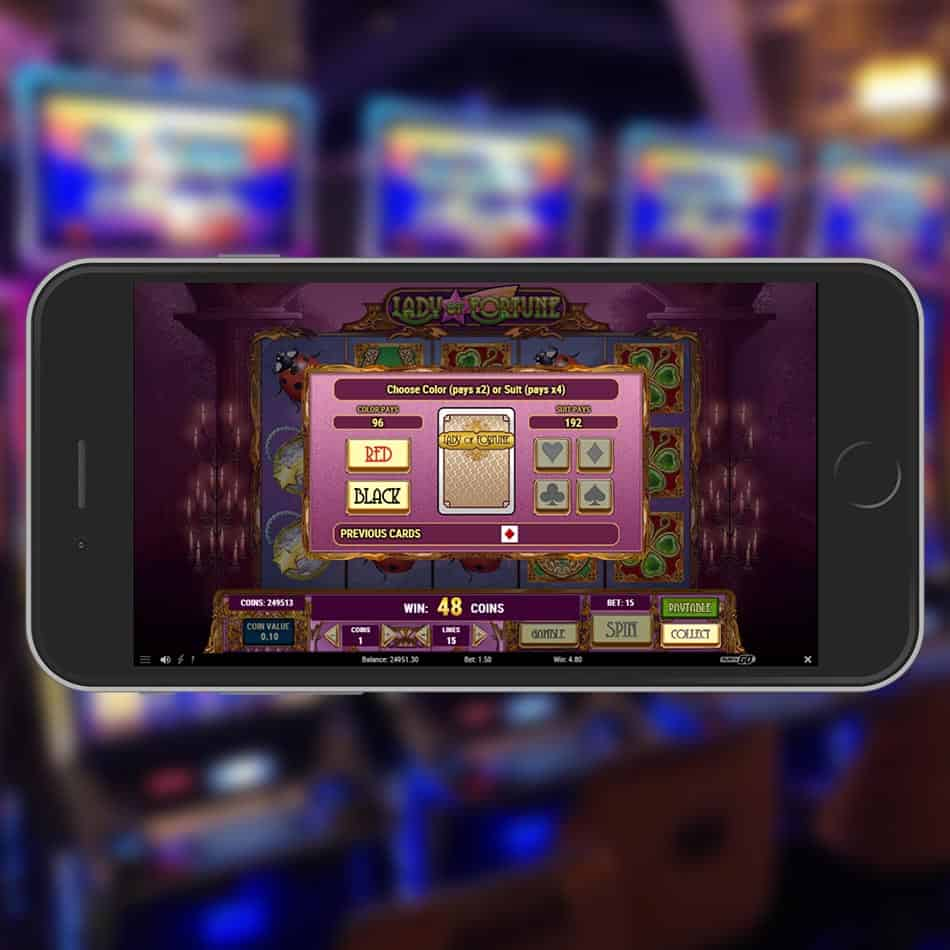 Lady Of Fortune Slot Machine Gamble Feature