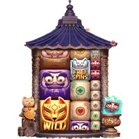Lucky Neko Gigablox Slot Machine Expanded Grid Assets