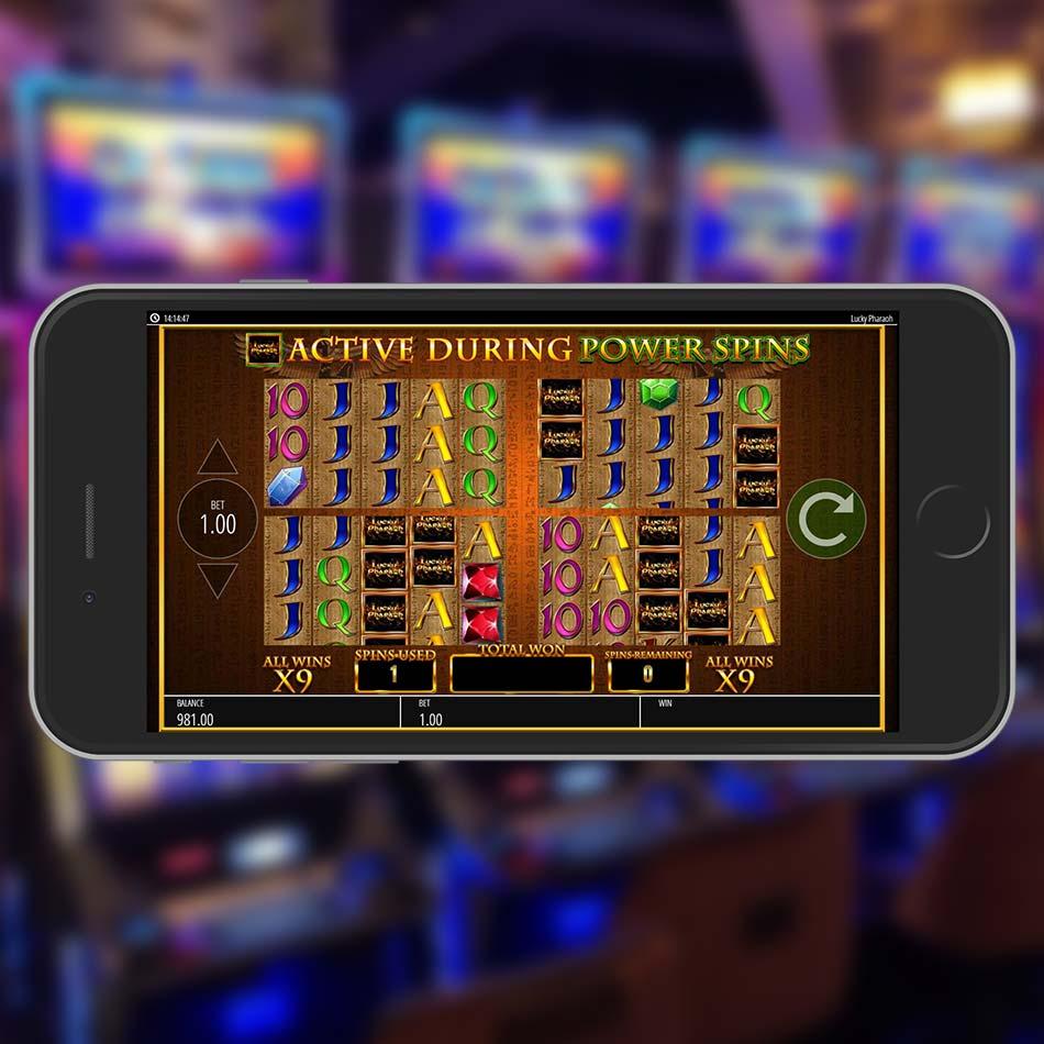Lucky Pharaoh Slot Machine Power Spins Multiplier