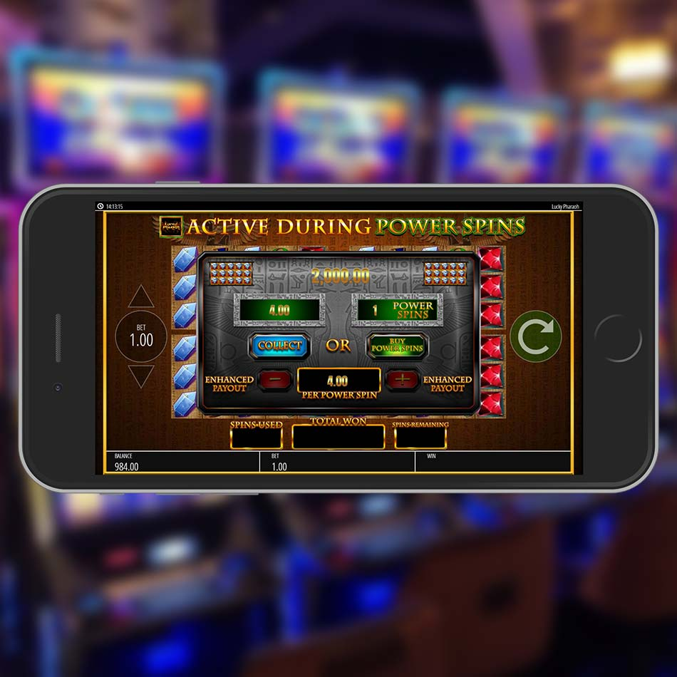 Lucky Pharaoh Slot Machine Power Spins Options
