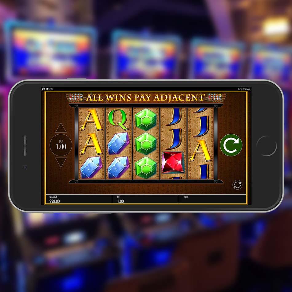 Lucky Pharaoh Slot Machine Spinning Phase