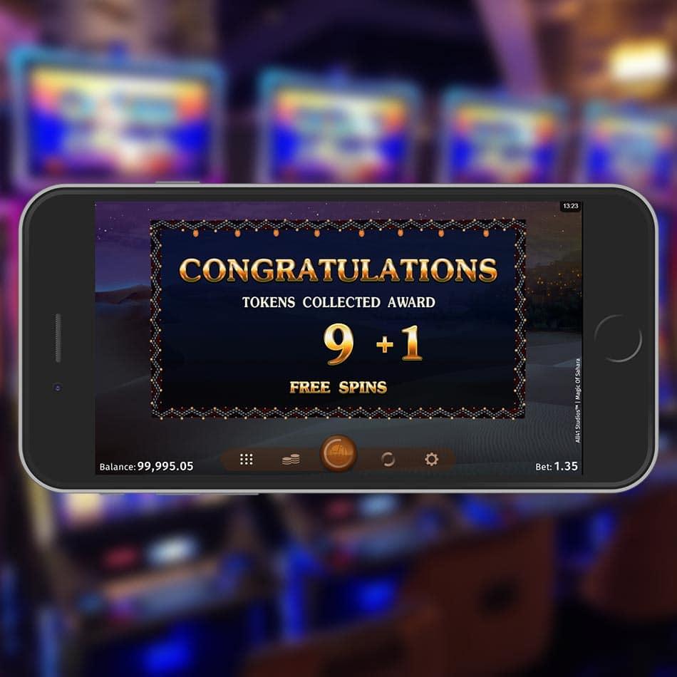 Magic of Sahara Slot Machine Free Spins Feature