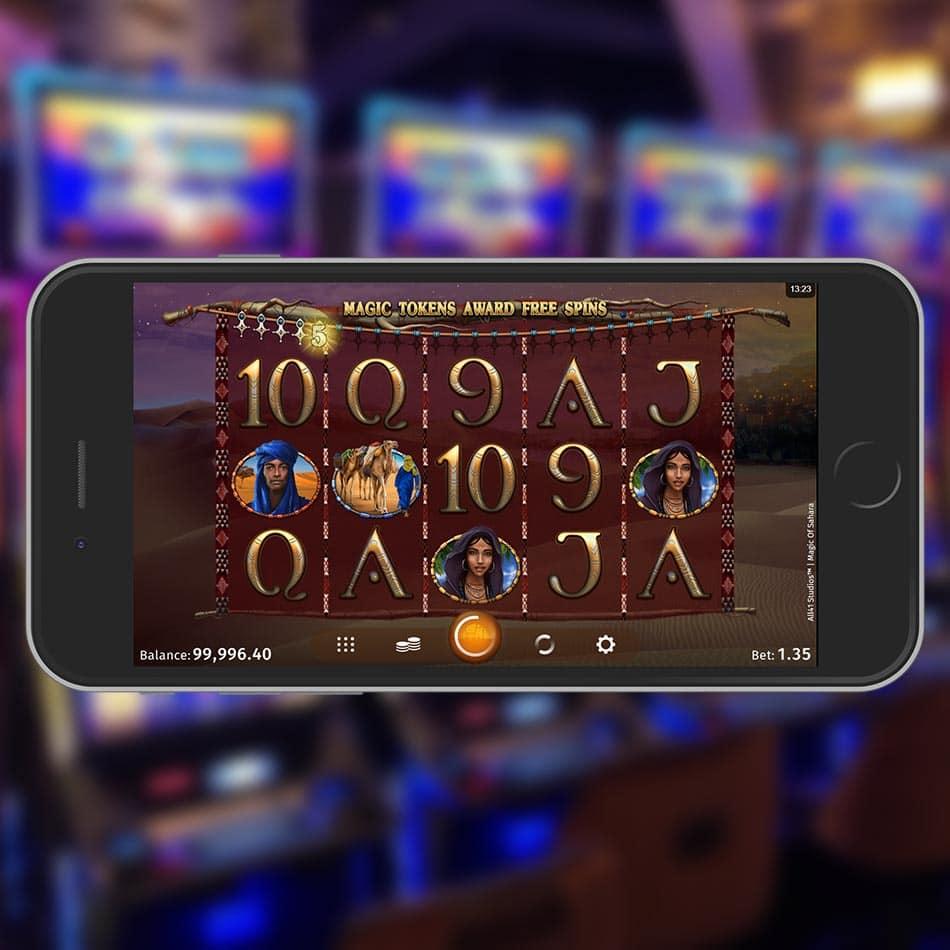Magic of Sahara Slot Machine Magic Tokens Feature
