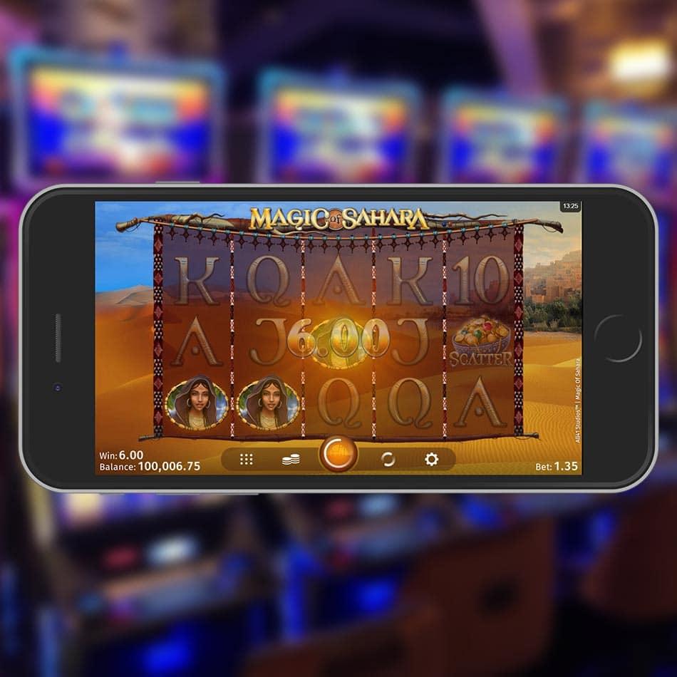Magic of Sahara Slot Machine Win
