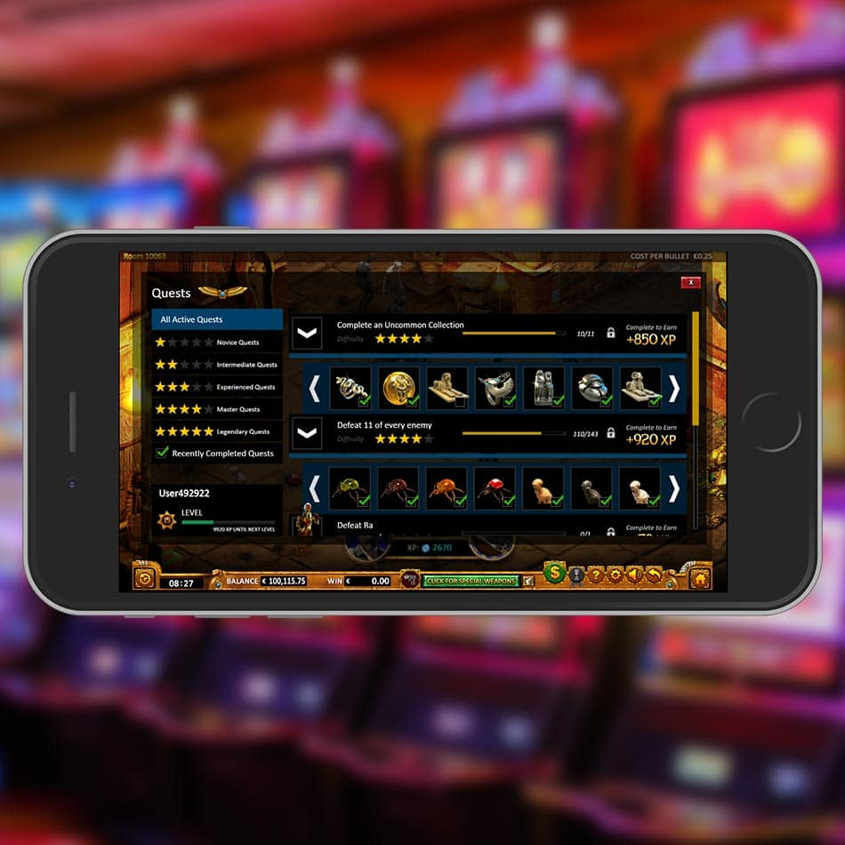 Max Quest: Wrath of Ra Slot Machine Ingame Quests List