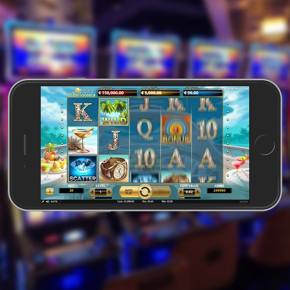 Mega Fortune Dreams Slot Machine Spinning Phase