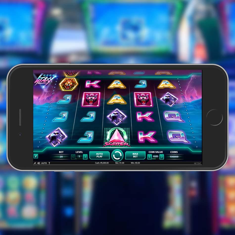 Neon Staxx Slot Machine Home Page