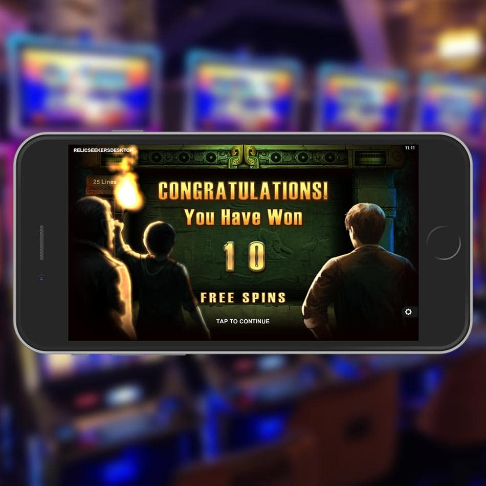 Relic Seekers Slot Machine Free Spins Feature