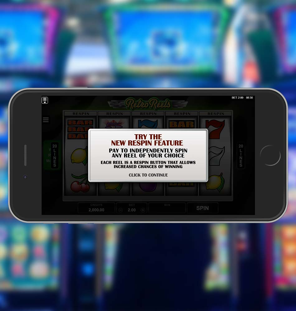 Retro Reels Slot Free Welcome Page