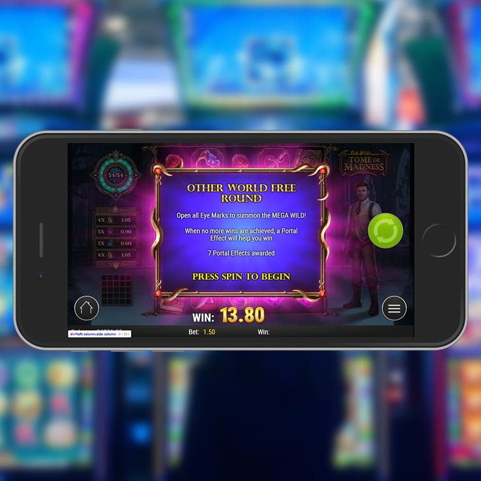 Rich Wilde and the Tome of Madness Slot Machine Free Spins Feature