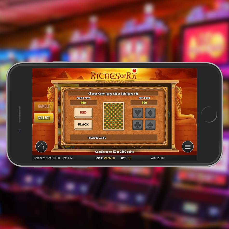Riches Of Ra Slot Machine Gamble Feature